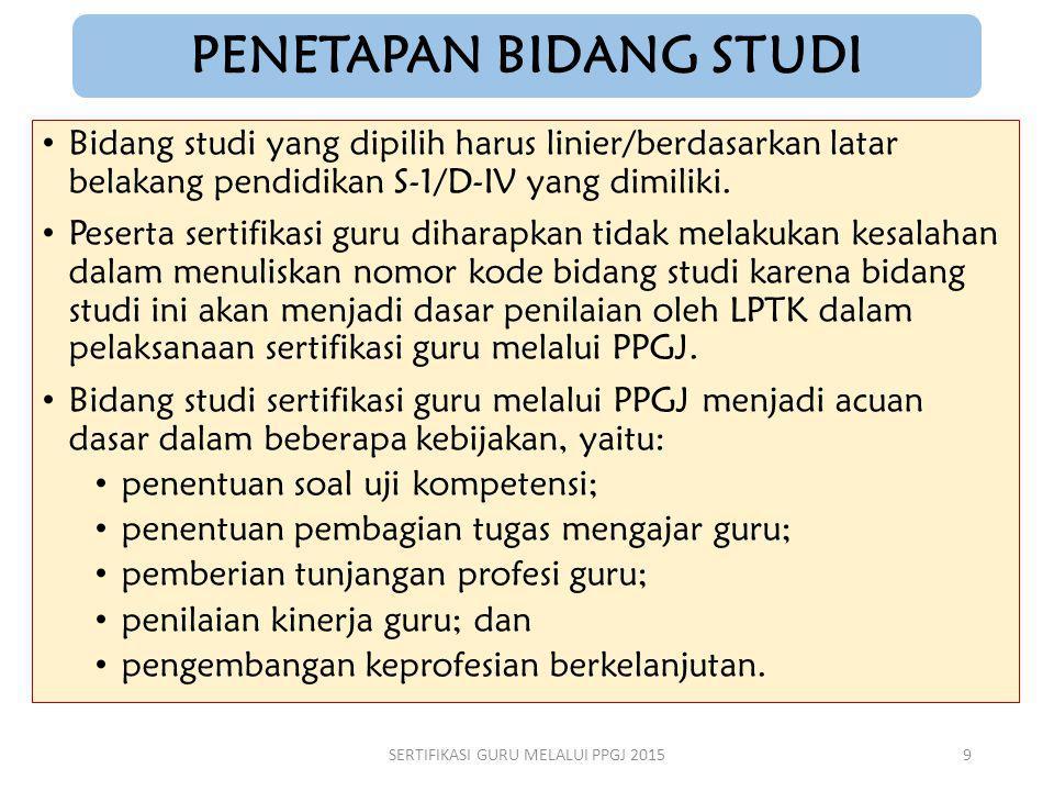 PENETAPAN BIDANG STUDI