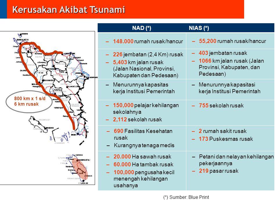 Kerusakan Akibat Tsunami
