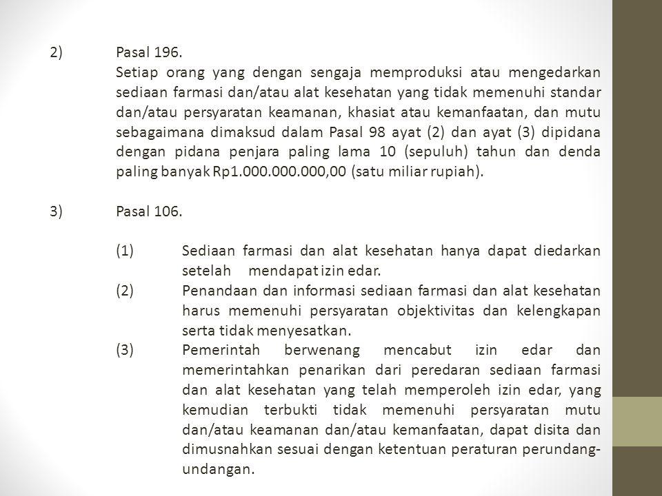 2) Pasal 196.