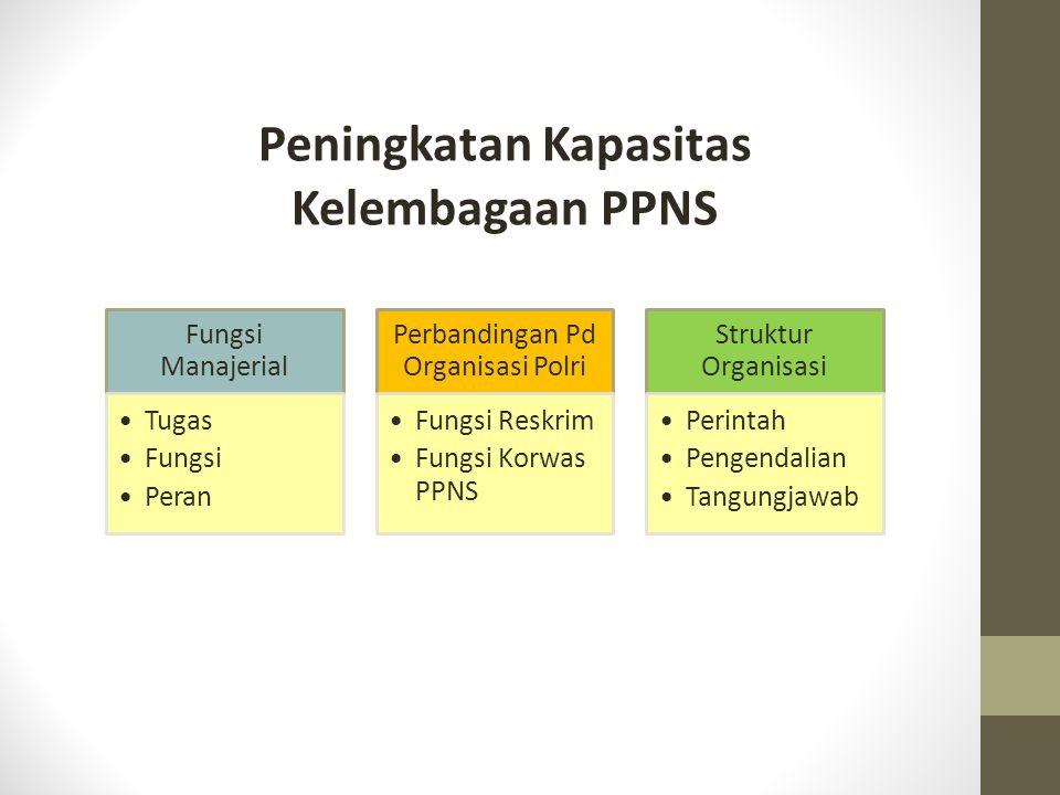 Peningkatan Kapasitas Kelembagaan PPNS