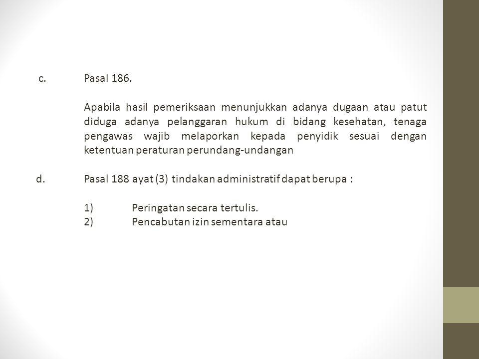 c. Pasal 186.