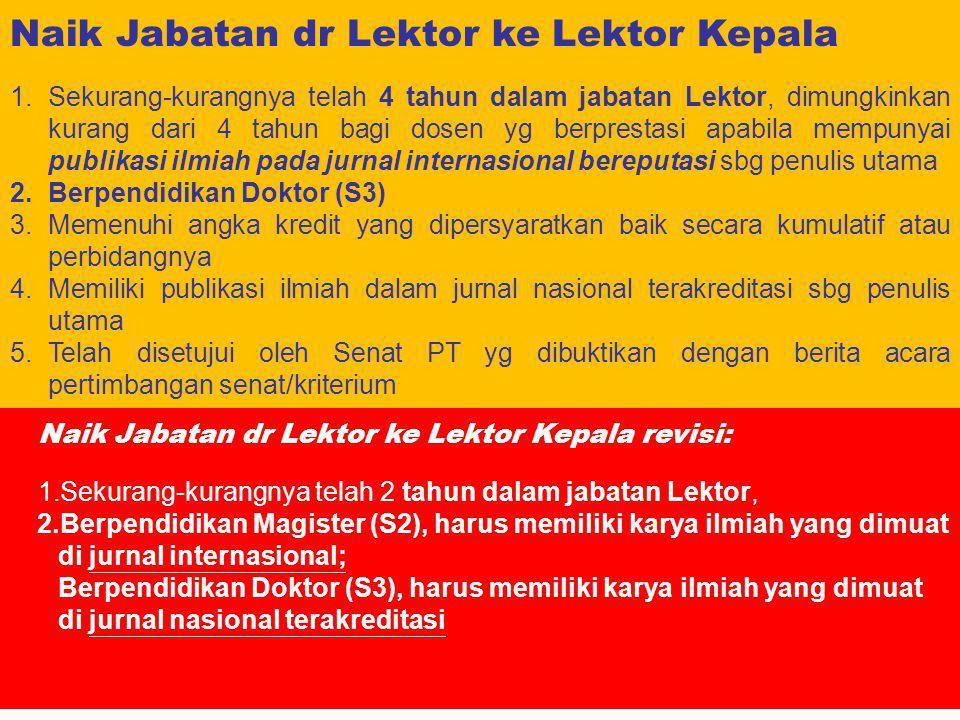 Naik Jabatan dr Lektor ke Lektor Kepala