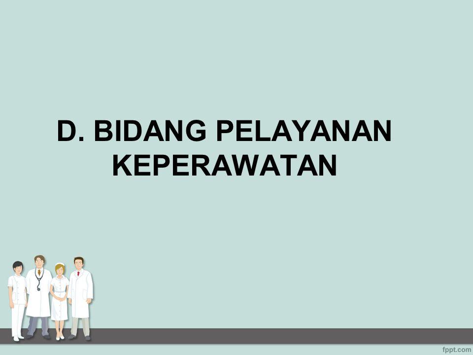D. BIDANG PELAYANAN KEPERAWATAN
