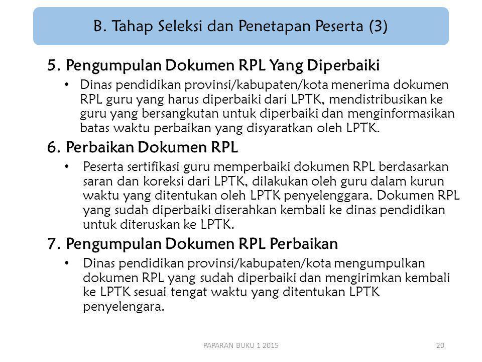B. Tahap Seleksi dan Penetapan Peserta (3)
