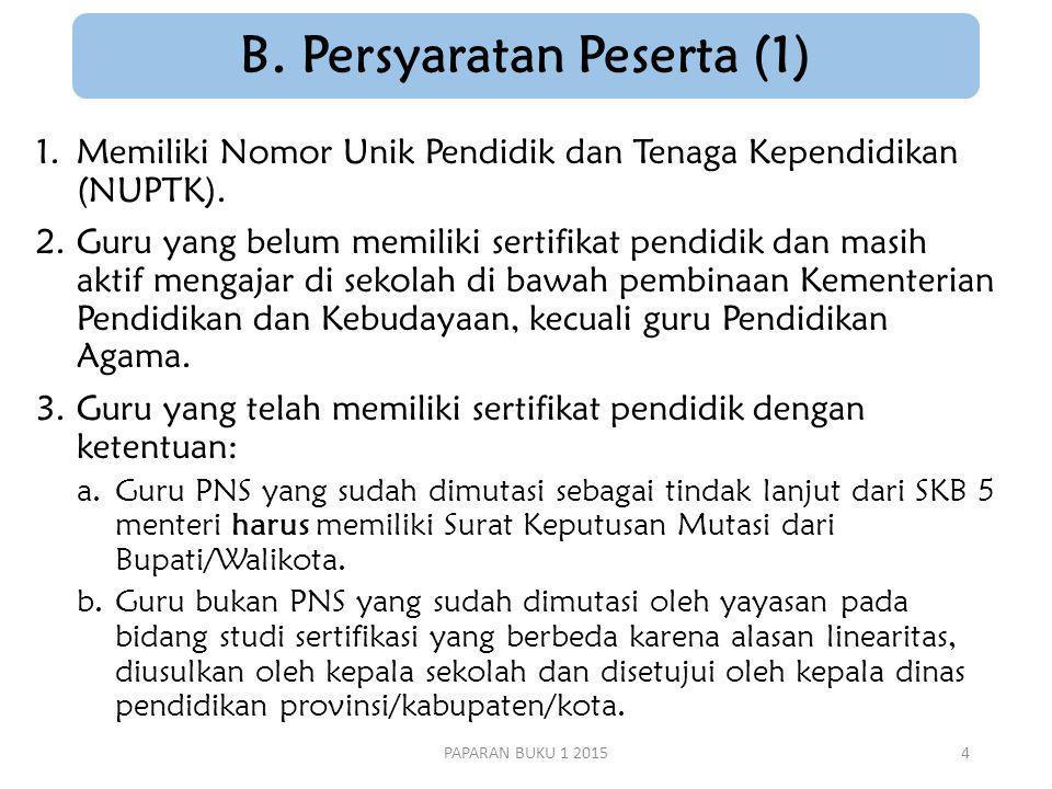 B. Persyaratan Peserta (1)
