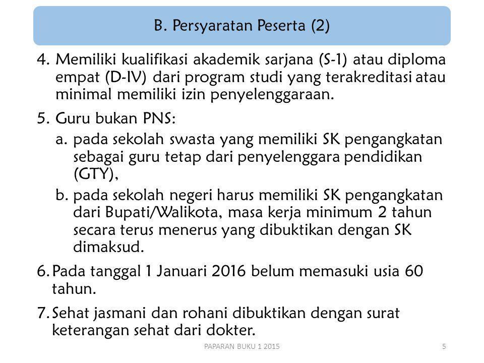B. Persyaratan Peserta (2)