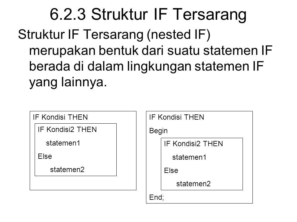 6.2.3 Struktur IF Tersarang