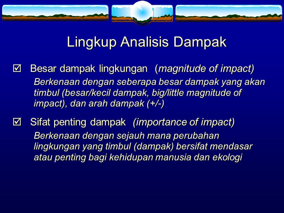 Lingkup Analisis Dampak