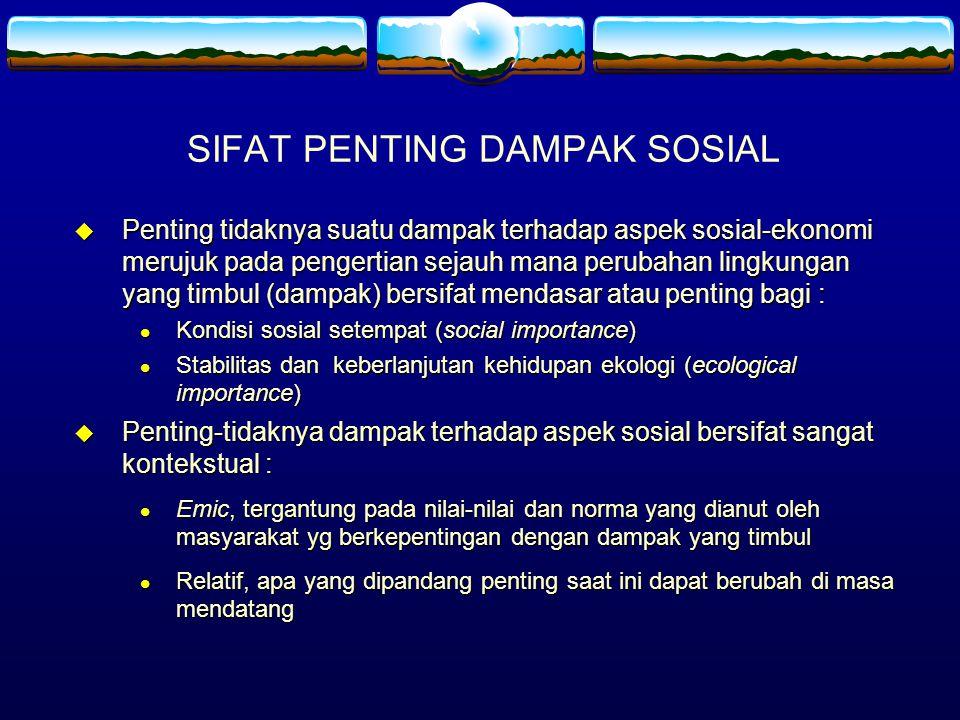 SIFAT PENTING DAMPAK SOSIAL