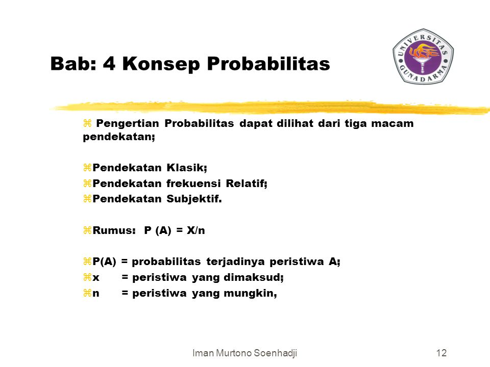 Bab: 4 Konsep Probabilitas