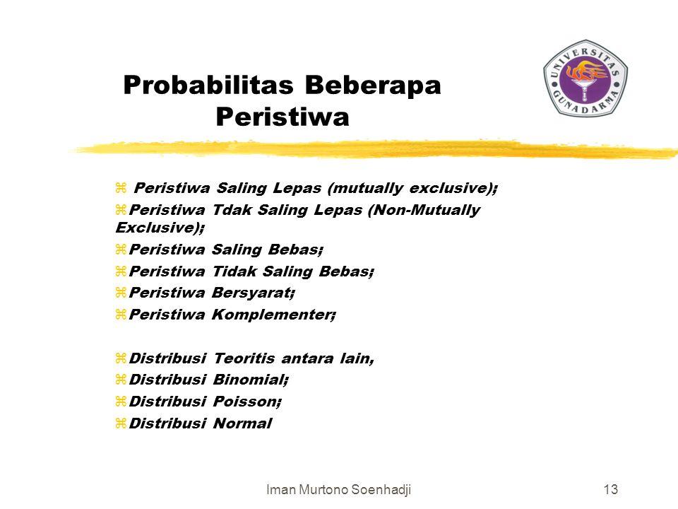 Probabilitas Beberapa Peristiwa