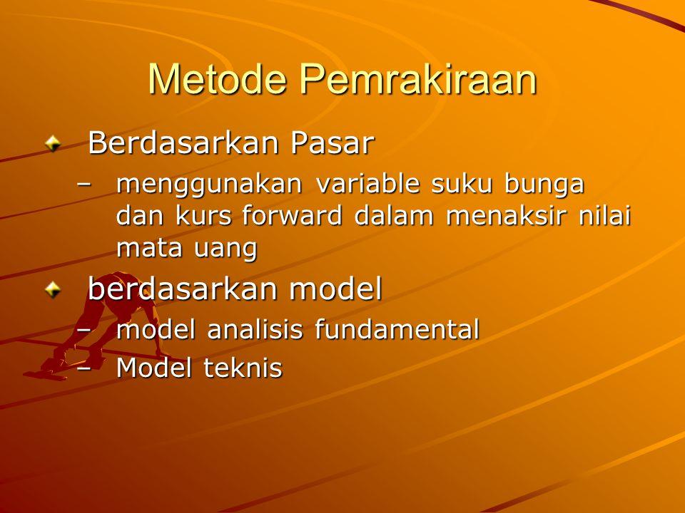 Metode Pemrakiraan Berdasarkan Pasar berdasarkan model