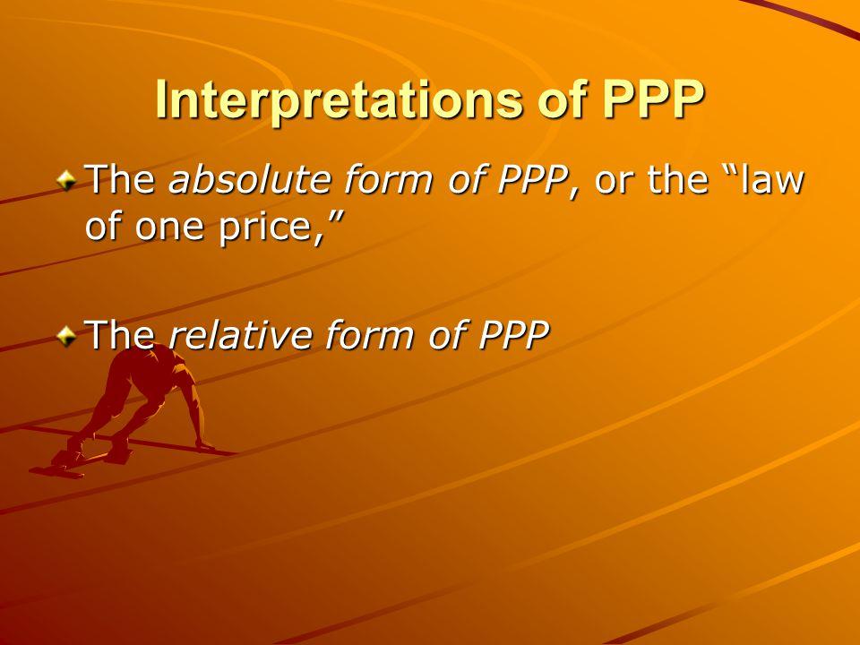 Interpretations of PPP