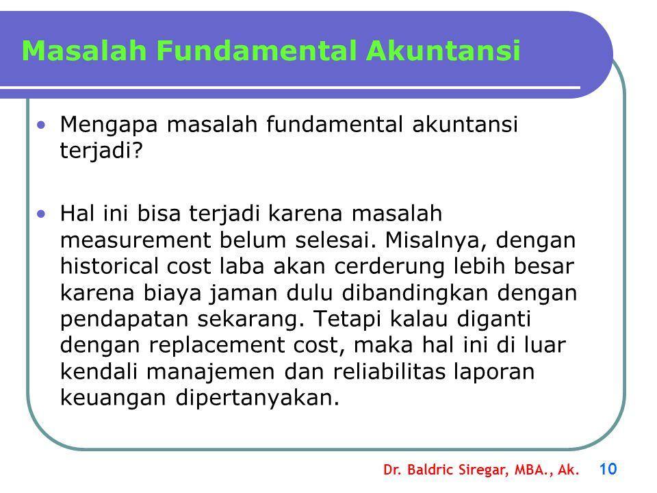 Masalah Fundamental Akuntansi