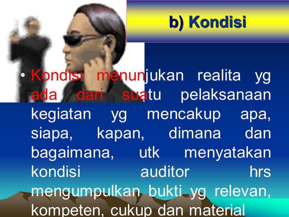 b) Kondisi