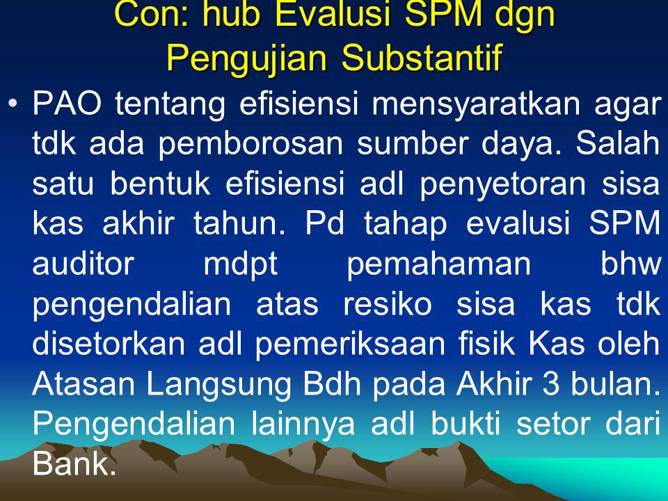 Con: hub Evalusi SPM dgn Pengujian Substantif