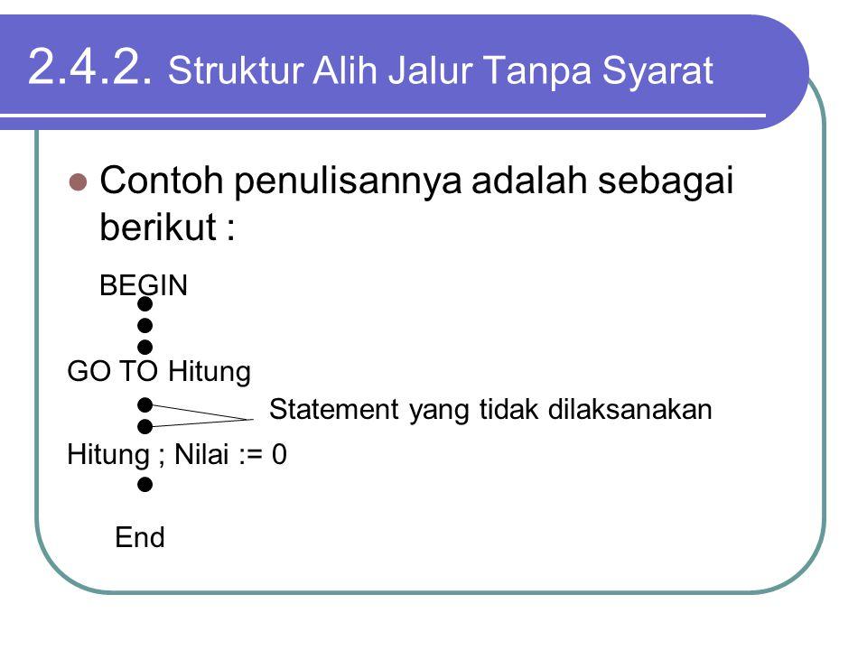 2.4.2. Struktur Alih Jalur Tanpa Syarat