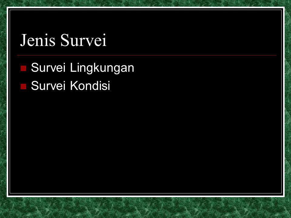Jenis Survei Survei Lingkungan Survei Kondisi