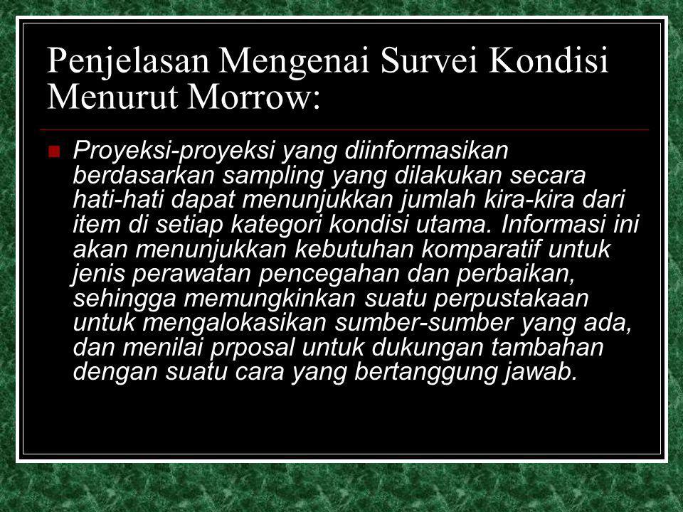 Penjelasan Mengenai Survei Kondisi Menurut Morrow: