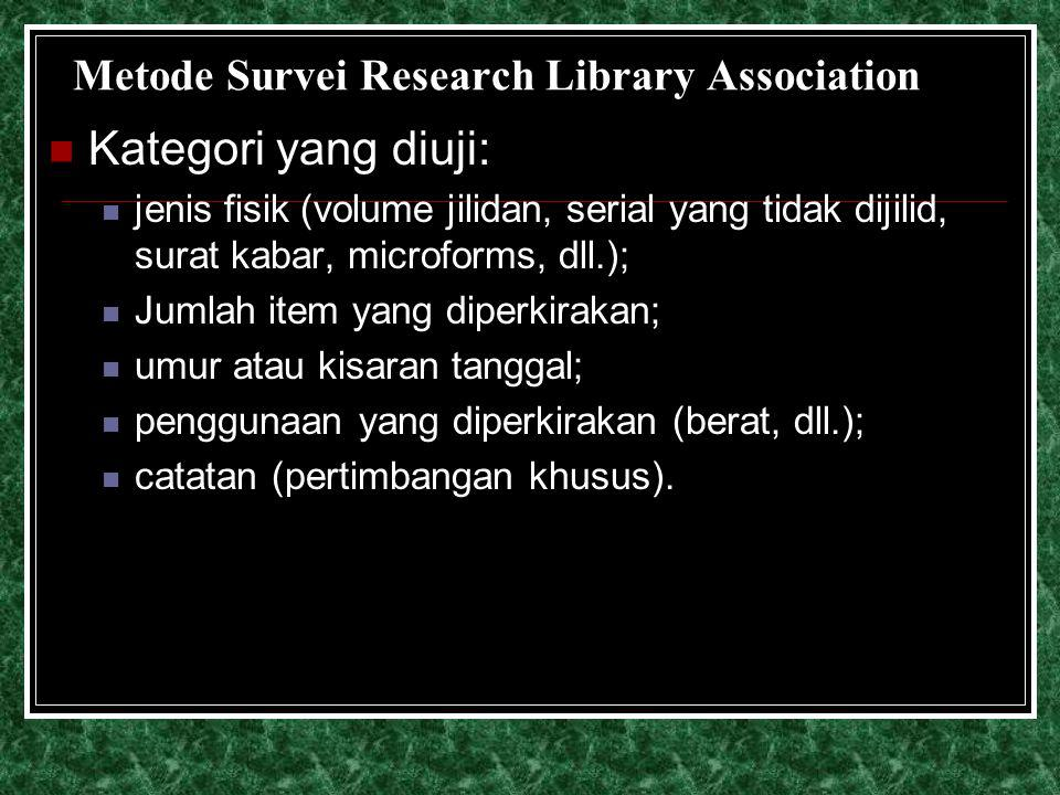 Metode Survei Research Library Association