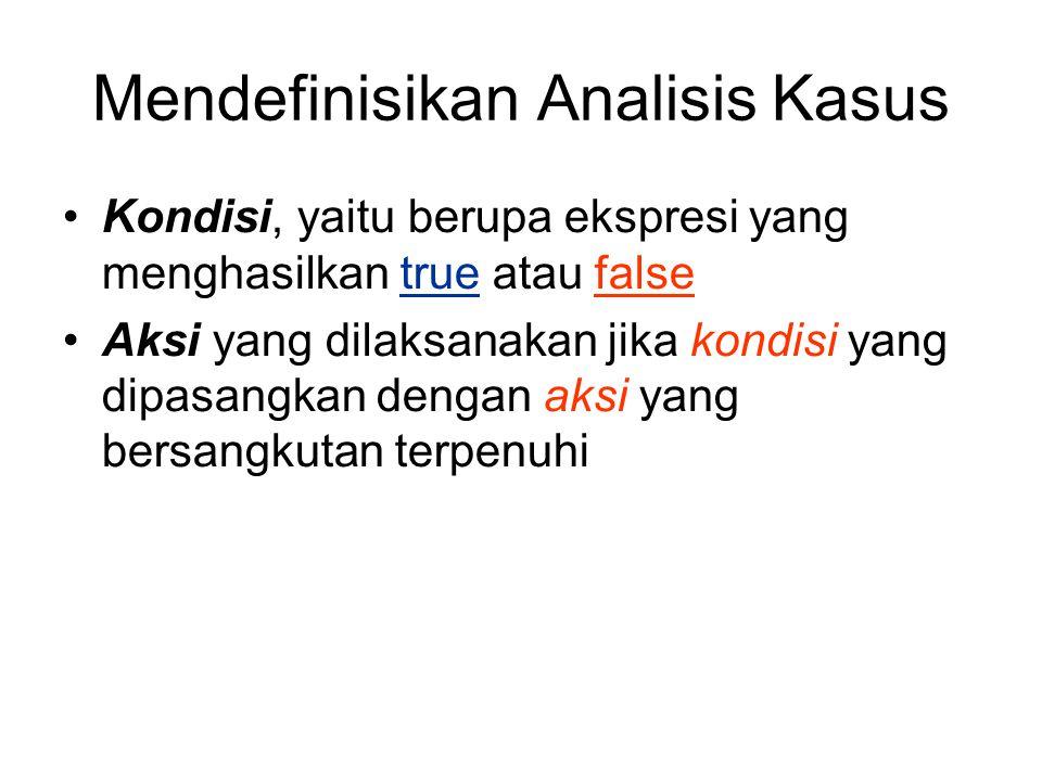 Mendefinisikan Analisis Kasus