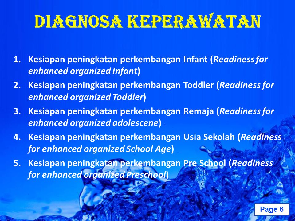 Diagnosa Keperawatan Kesiapan peningkatan perkembangan Infant (Readiness for enhanced organized Infant)