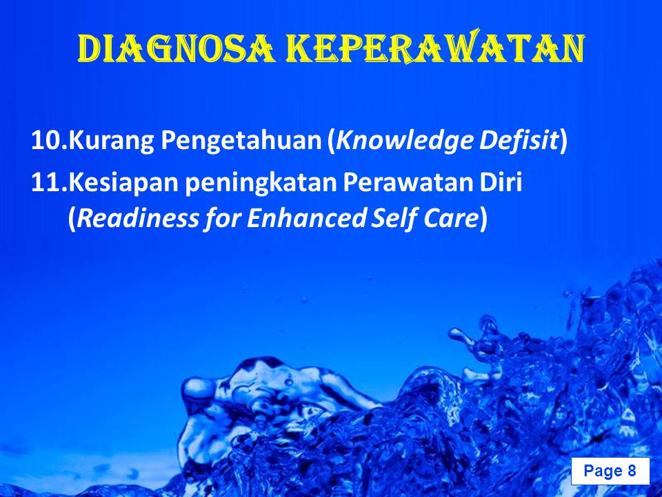 Diagnosa Keperawatan Kurang Pengetahuan (Knowledge Defisit)