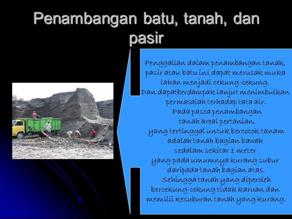 Penambangan batu, tanah, dan pasir