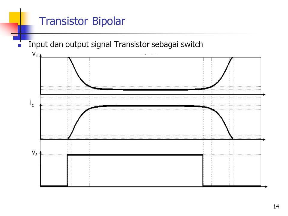 Transistor Bipolar Input dan output signal Transistor sebagai switch