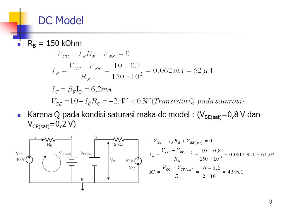 DC Model RB = 150 kOhm.
