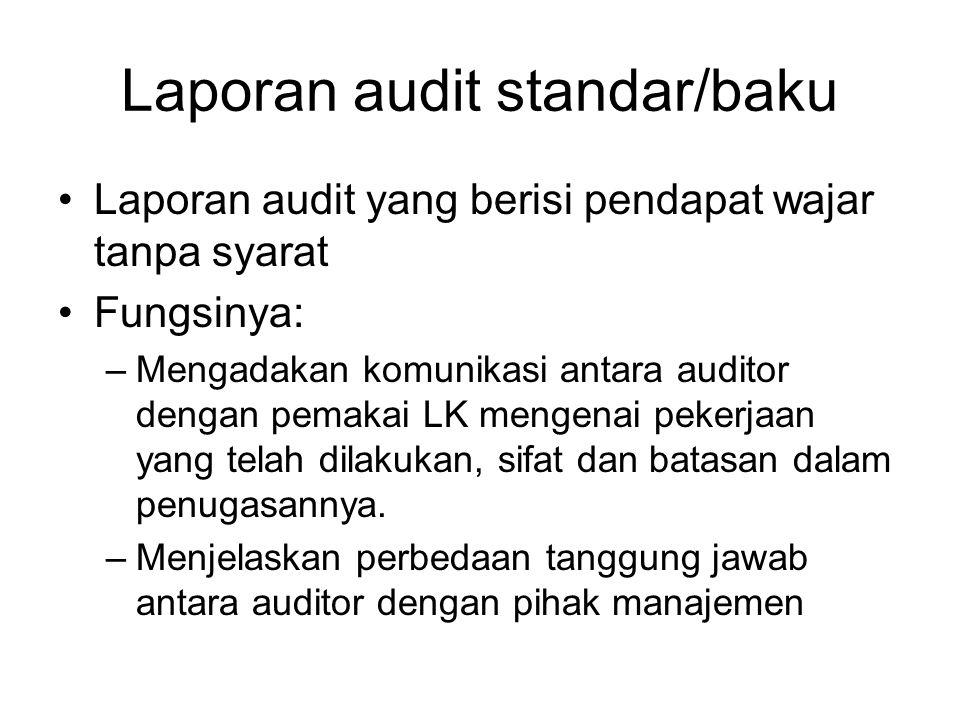 Laporan audit standar/baku