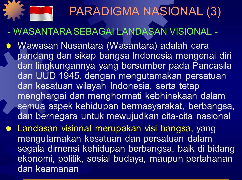 PARADIGMA NASIONAL (2) - UUD 1945 SEBAGAI LANDASAN KONSTITUSIONAL -