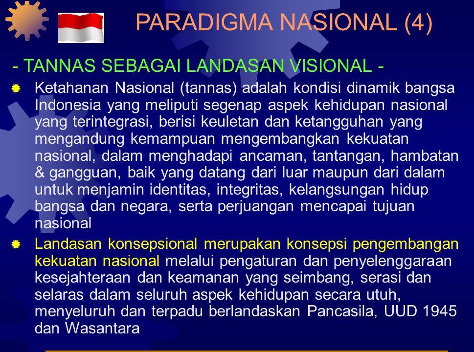PARADIGMA NASIONAL (3) - WASANTARA SEBAGAI LANDASAN VISIONAL -