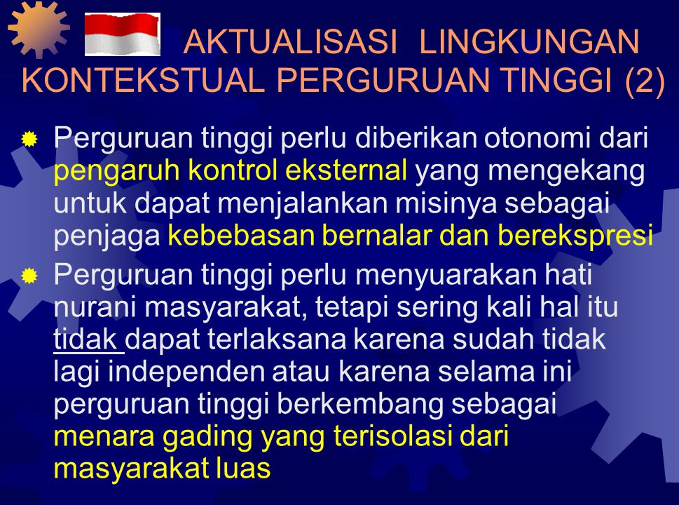 AKTUALISASI LINGKUNGAN KONTEKSTUAL PERGURUAN TINGGI (1)