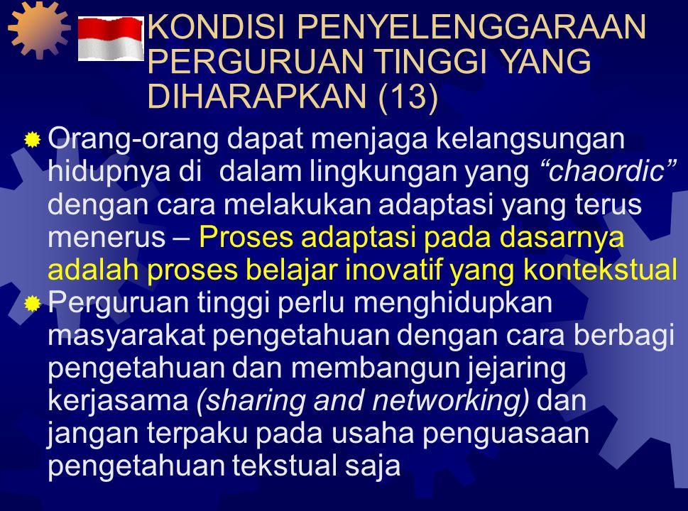 KONDISI PENYELENGGARAAN PERGURUAN TINGGI YANG DIHARAPKAN (12)