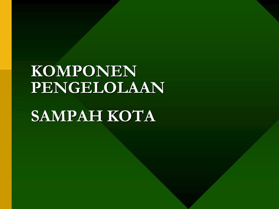 KOMPONEN PENGELOLAAN SAMPAH KOTA