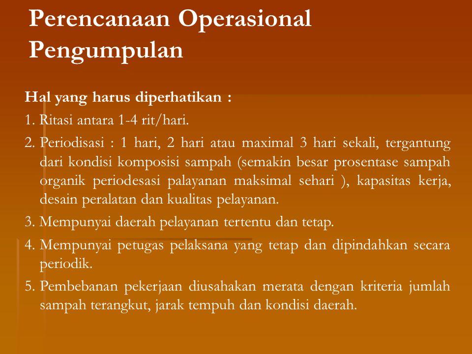 Perencanaan Operasional Pengumpulan