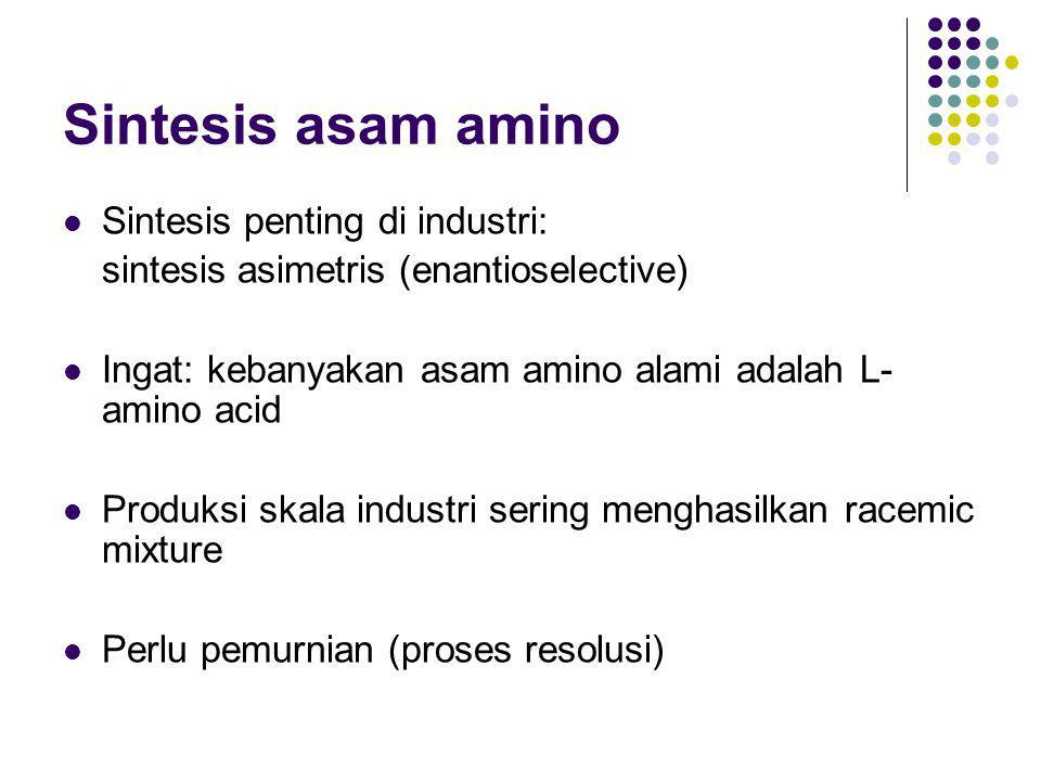 Sintesis asam amino Sintesis penting di industri: