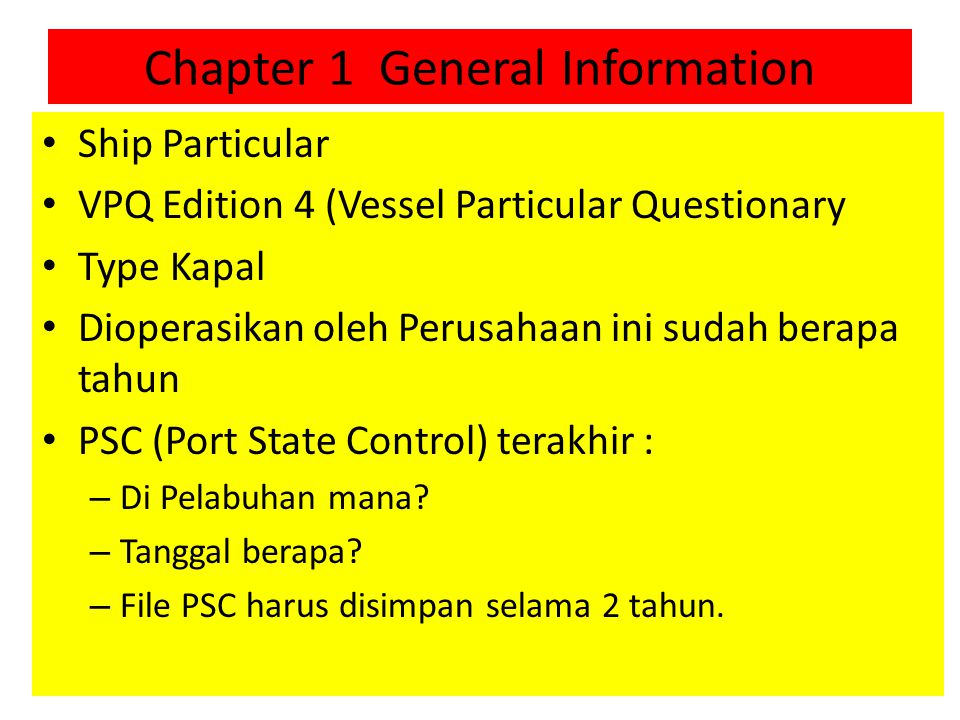 Chapter 1 General Information