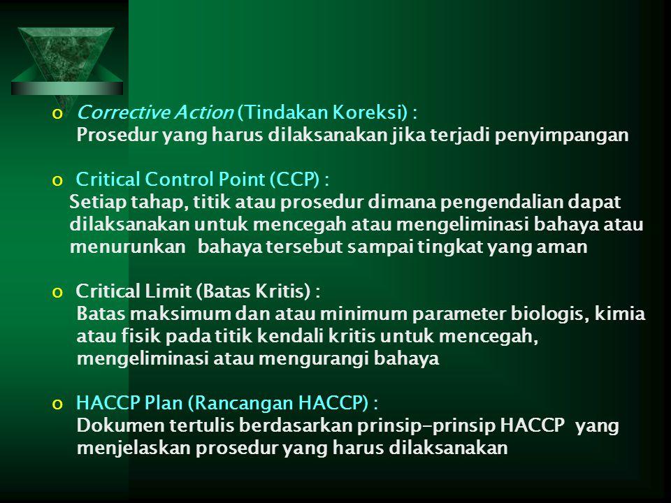 Corrective Action (Tindakan Koreksi) :