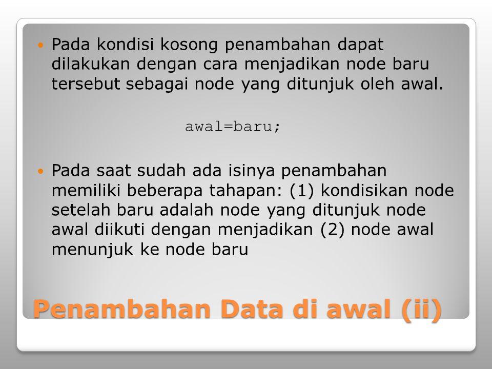 Penambahan Data di awal (ii)