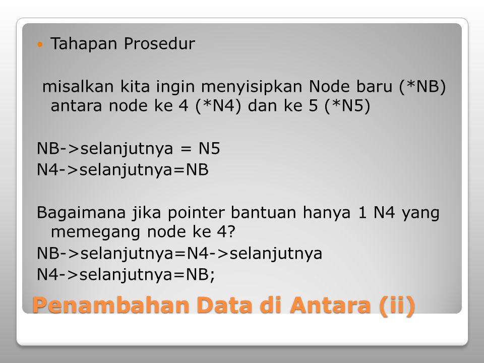Penambahan Data di Antara (ii)