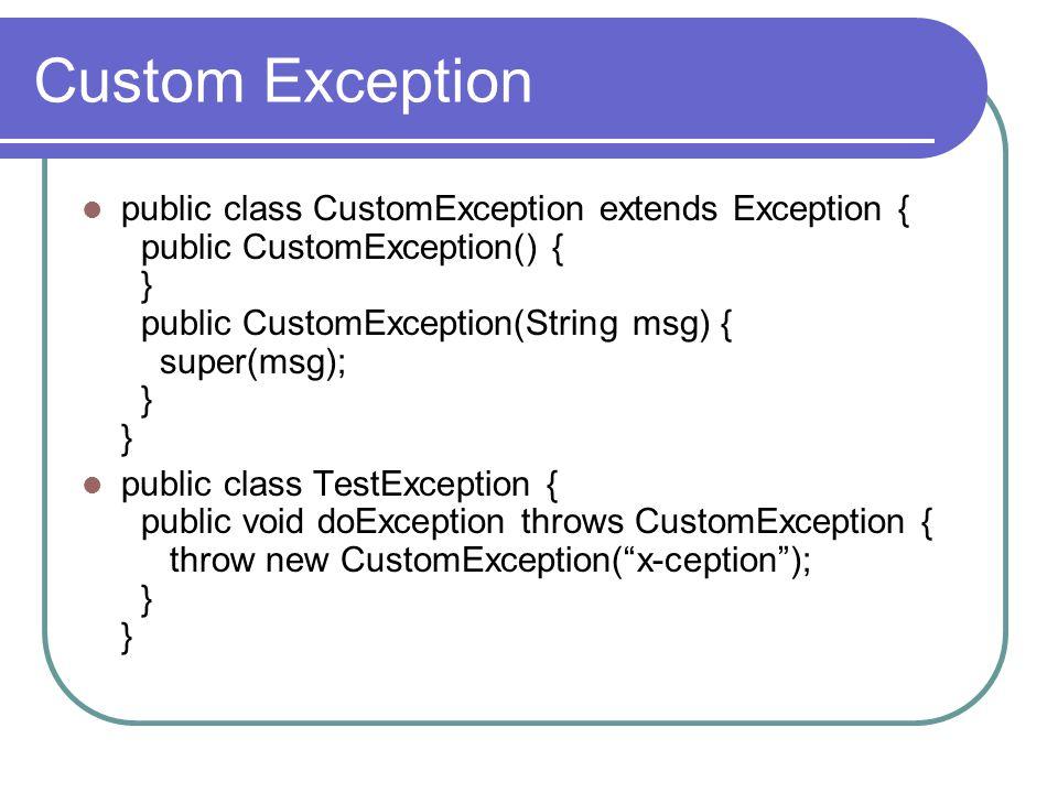Custom Exception
