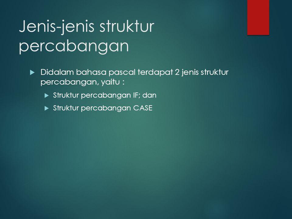 Jenis-jenis struktur percabangan