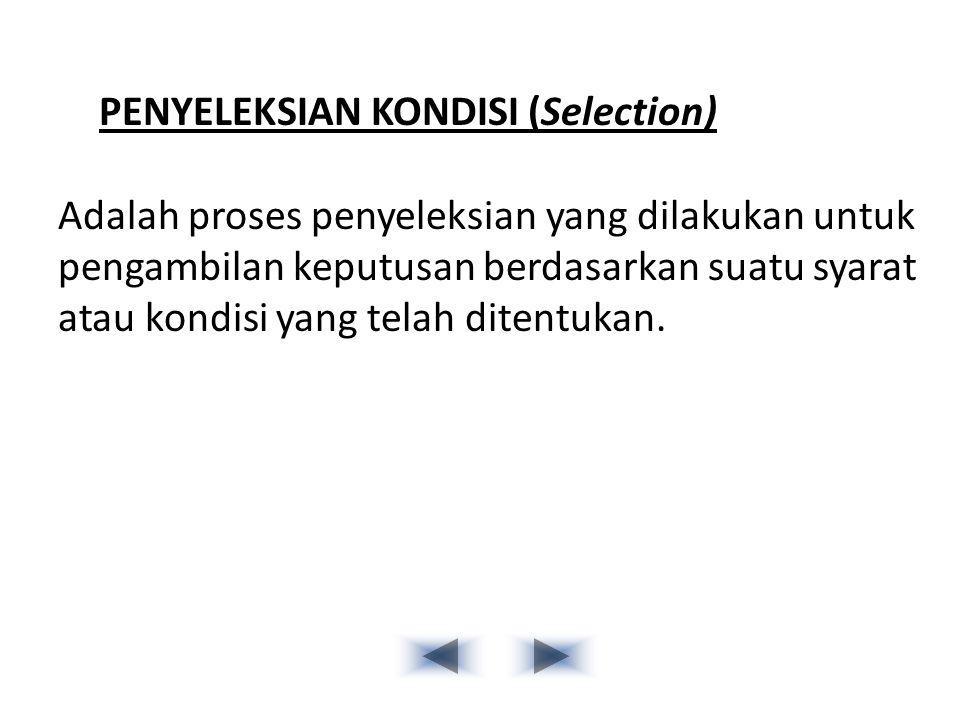 PENYELEKSIAN KONDISI (Selection)