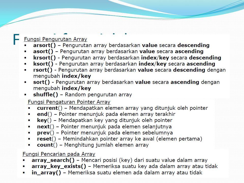 Fungsi-fungsi dalam array