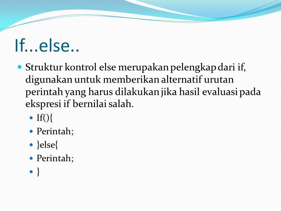 If...else..