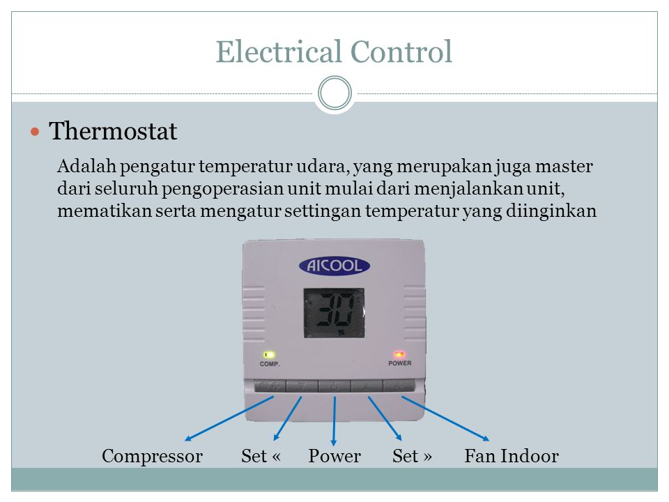 Electrical Control Thermostat