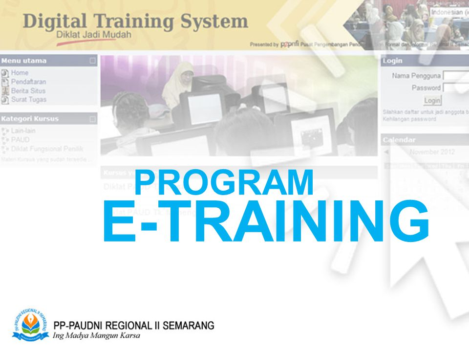 PROGRAM E-TRAINING