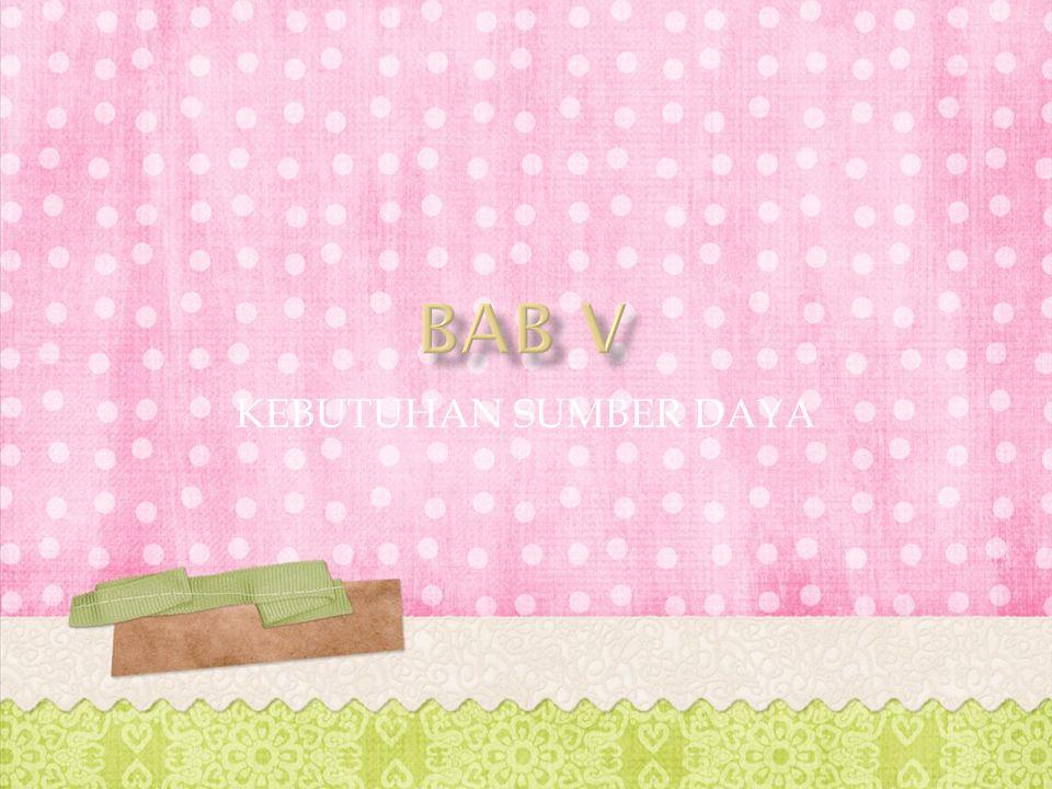 BAB V KEBUTUHAN SUMBER DAYA